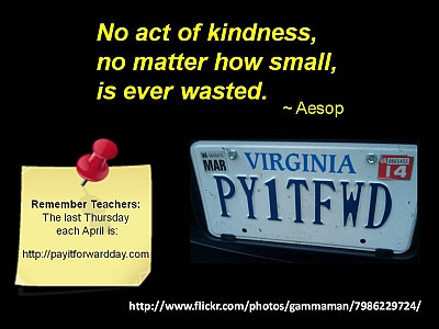Teacher Feature 28 - Pay It Forward Day