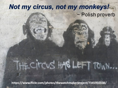 Not my circus - Not my monkeys - 400x300